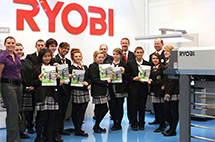 Компания RYOBI MHI (RMGT) представит на «Print Efficiently 2015» машину формата В3 с LED UV
